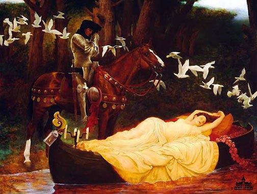 "lord alfred tennyson s ""the lady of shalott"" deceptively blonde jeff barson s the lady of shalott"