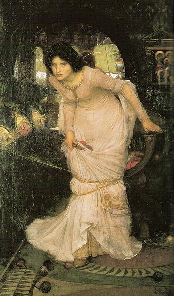 "John Waterhouse's ""Lady of Shalott Looking at Lancelot"""