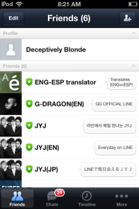 Main Page for Line
