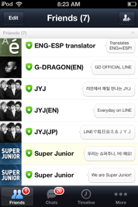 "Note ""Super Junior"" at the bottom of my list. Click it."