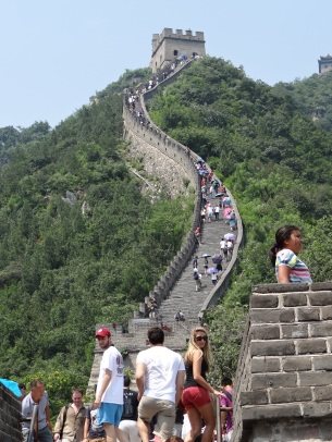 When you see pics of the Great Wall that show people smiling on a flat terrain; they lie. It was death by a thousand stairs dead upmountain. My ghost is writing this.