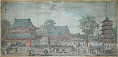 """Sensoji Temple in Edo"" (1809)"